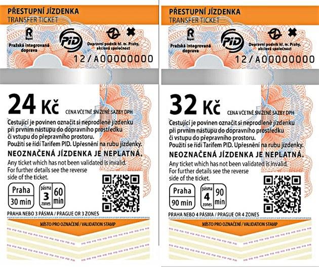 Бумажные талоны для проезда в метро в Праге