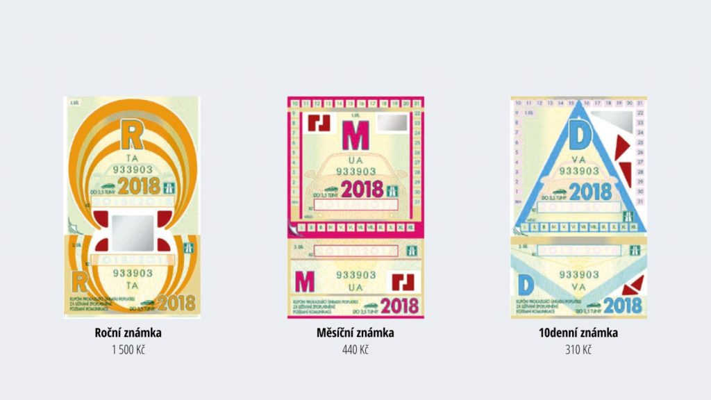 Dálniční známka на год, месяц и 10 дней