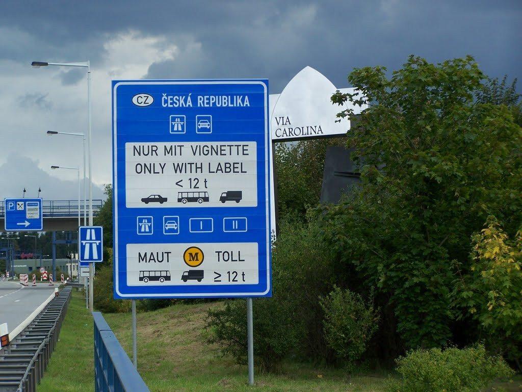 Дорожные знаки в Чехии